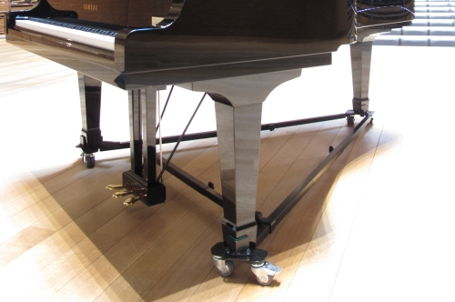 An A-frame fited to Yamaha C7 grand piano